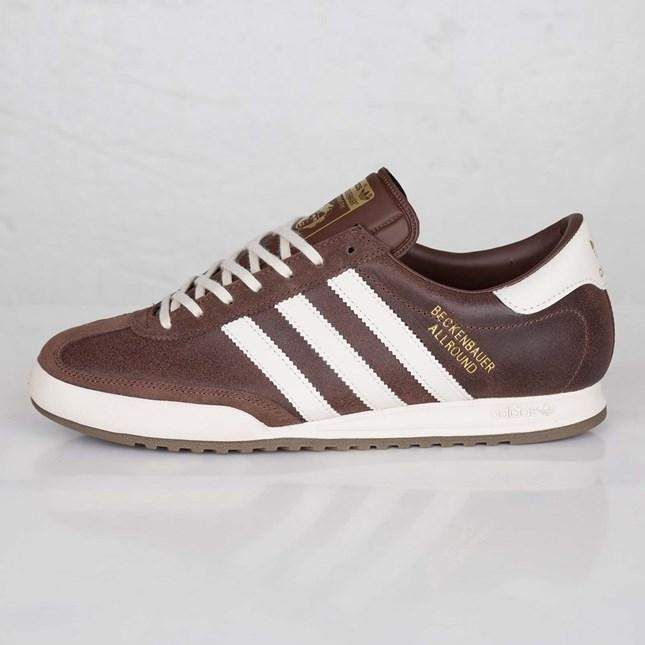 Adidas Originals Beckenbauer Allround Mens Brown Trainer Shoes