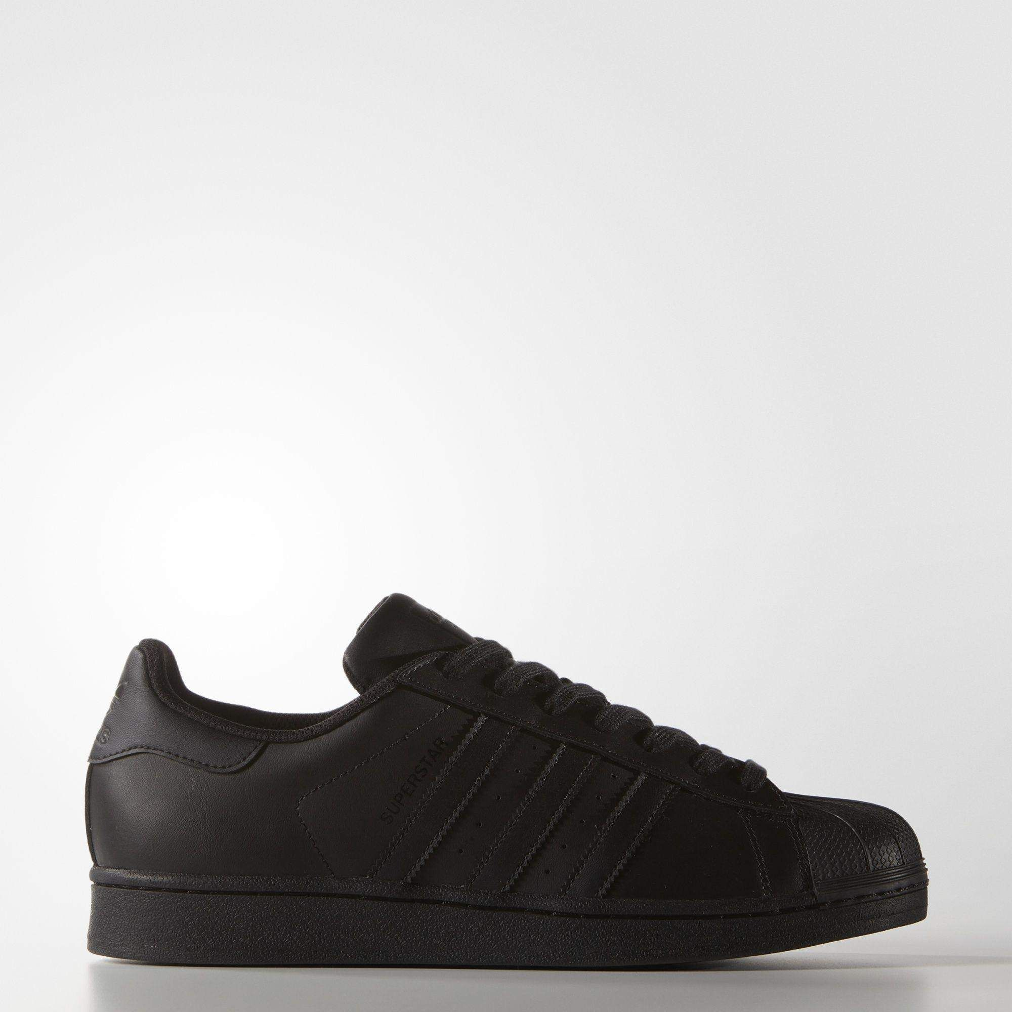 5b0eda522 Adidas Superstar Foundation Black Trainers