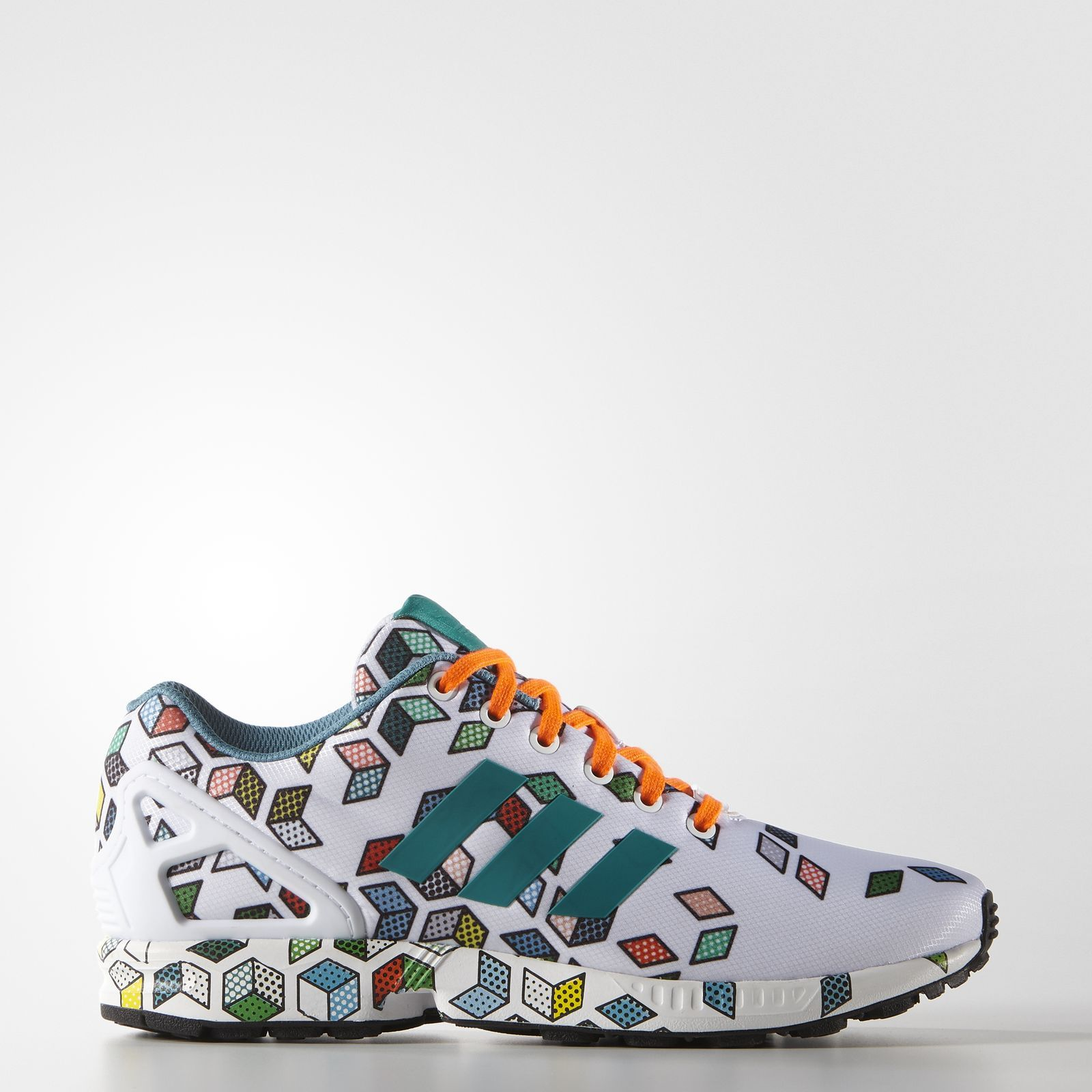 wholesale dealer 34978 11804 Adidas ZX Flux Shoes - Multi Cubes