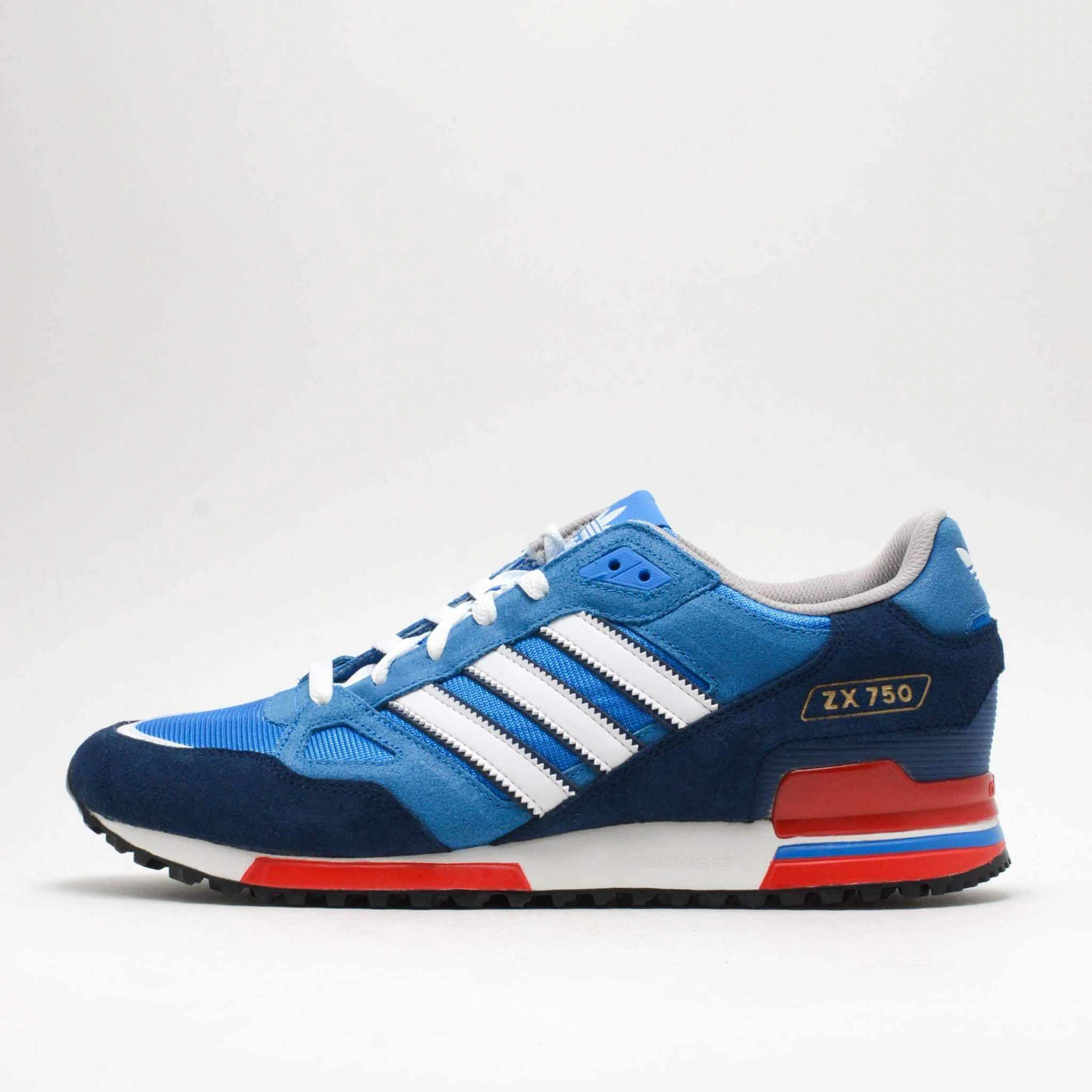703f2b969d3e1 Adidas Originals ZX750 Mens Running Trainer Shoes Blue