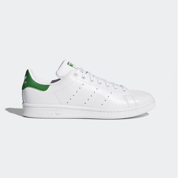 Adidas Originals Stan Smith Mens Trainer Shoes White Green