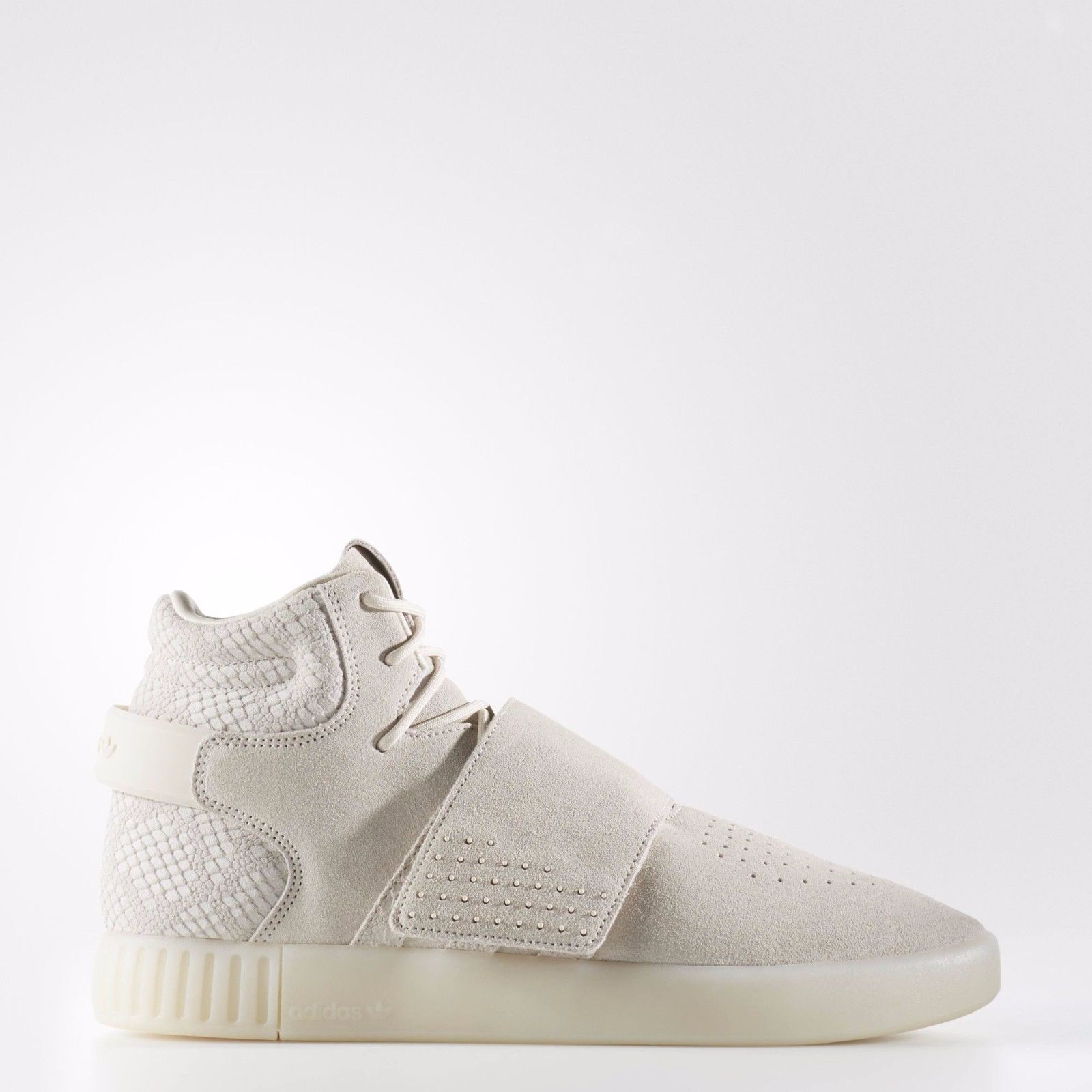 pretty nice 18bb7 09292 Adidas Originals Tubular Invader Strap Mens Trainer Shoes Clear Brown