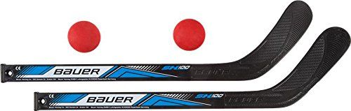 Bauer Street Hockey Mini Stick Set Left & Right Foam Ball