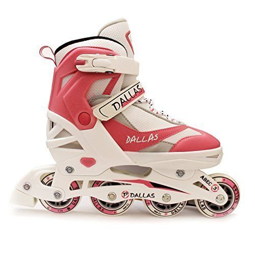 California Pro Dallas Children's Girls Adjustable Inline Roller Skates White/Pink