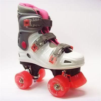 California Pro Street Fighter VT06 Kids Girls Quad Roller Skates White/Pink
