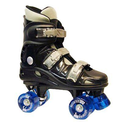 California Pro Street Fighter VT06 Kids Junior Quad Roller Skates Black/Blue