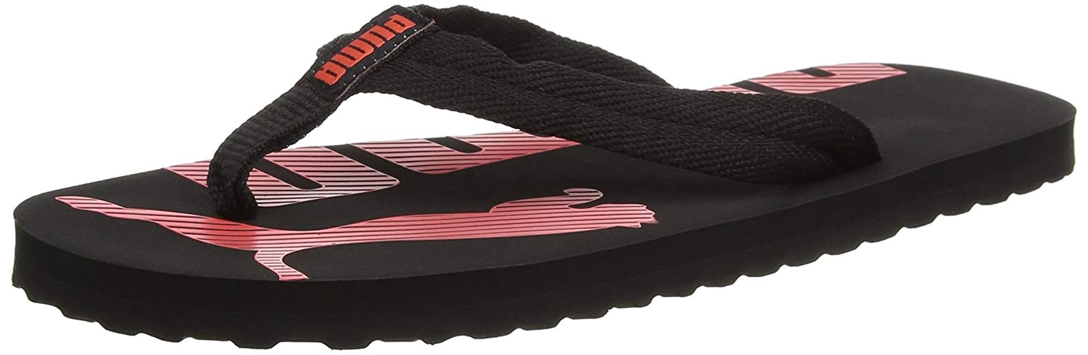 dc88229422e5 Home   Puma Epic Flip V2 Unisex Flops Slippers Black   Coral. Tap to expand