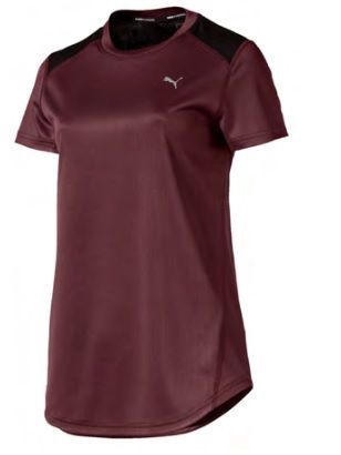 Puma Ignite Short Sleeved T-Shirt  Medium Burgundy