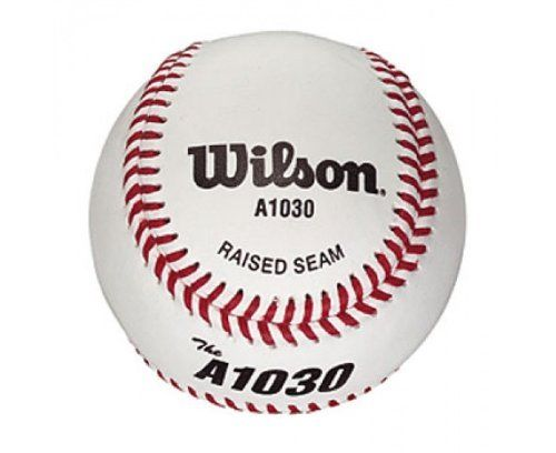 Wilson A1030 Baseball Cork Center Leather Cover Ball