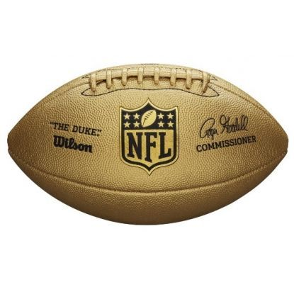 Wilson NFL Duke Metallic Edition Gold Official Ball American Football